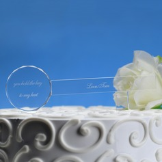 Personalized Key Shaped Crystal Cake Topper