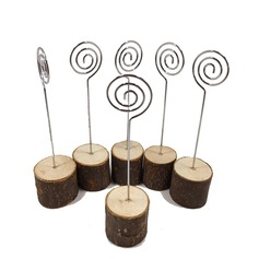 Tree Design Fresh Wooden Place Cards/Clip