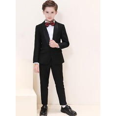 Boys 4 Pieces Classic Ring Bearer Suits /Page Boy Suits With Jacket Shirt Pants Bow Tie