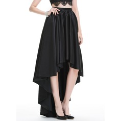A-Line/Princess Asymmetrical Satin Prom Dress