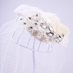 Dames Prachtige Feather/Kant/Strass Fascinators/Theepartij hoeden