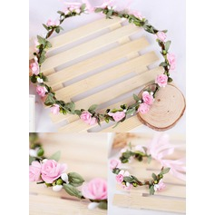 Seda artificiais/Papel com Fita flor Headband