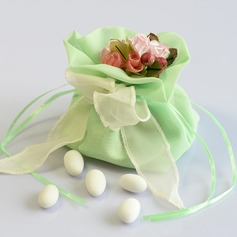 Lovely Organza Favor Bags With Flowers/Ribbons