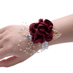 Artificial Flower Wrist Corsage (Sold in a single piece) - (123185626)
