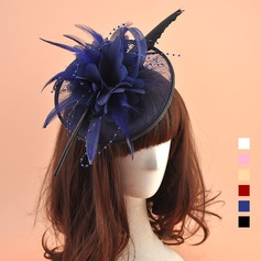 Dames Style Vintage Organza avec Feather Chapeaux de type fascinator (196124655)