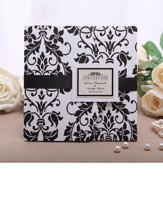 Personlig Blommig Stil Wrap & Pocket Invitation Cards (Sats om 50)