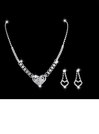 Hottest Alloy/Copper With Rhinestone Ladies' Jewelry Sets