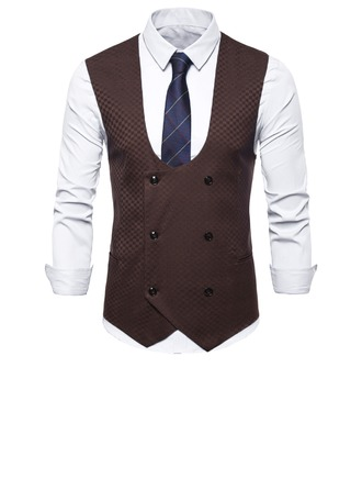 Formal Polyester Viscose Men's Vest