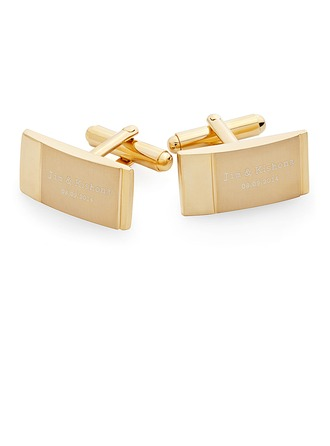 Personalized Gold Stainless Steel Cufflinks (Set of 2)