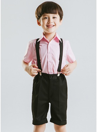Boys 4 Pieces Cute Ring Bearer Suits /Page Boy Suits With Shirt Pants Bow Tie Suspender