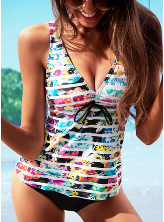 Tankinis Polyester Floral Women's Yes Swimwear