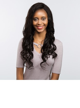 4A Non remy Body Wavy Human Hair Full Lace Cap Wigs 170g