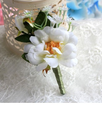 Simple Satin Boutonniere/Men's Accessories -