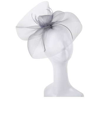 Dames Simple/Gentil/Jolie Polyester avec Feather/Tulle Chapeaux de type fascinator