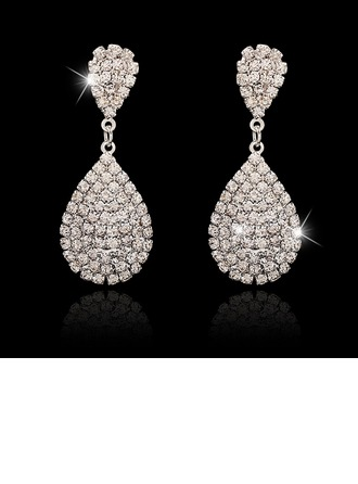 Elegant Alloy/Crystal Ladies' Earrings