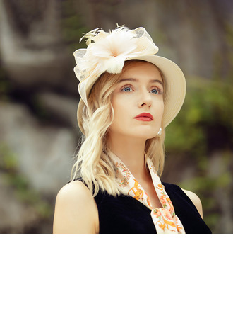 Damene ' Vakkert/Elegant Cambric/Polyester med Silke blomst Kentucky Derby Hatter/Tea Party Hats