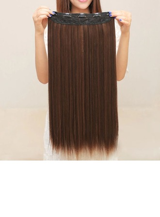 5A Virgin/remy Straight Human Hair Clip in Hair Extensions 5PCS 100g