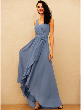 A-line Sleeveless Asymmetrical Romantic Sexy Dresses