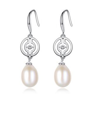 Ladies' Classic Pearl Earrings For Bride/For Bridesmaid/For Mother