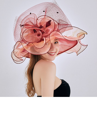 Ladies' Hottest/Romantic Organza/Lace With Flower Beach/Sun Hats/Kentucky Derby Hats/Tea Party Hats