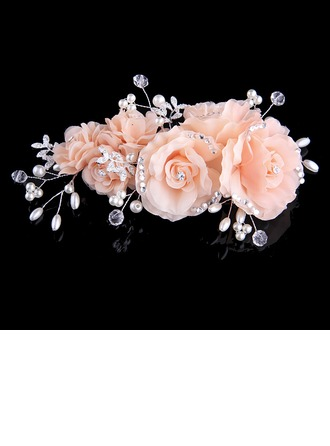 Beautiful Crystal/Imitation Pearls/Silk Flower Headbands (Sold in single piece)