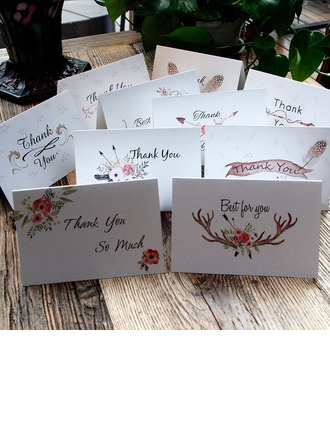 Style Flora Fold Side Thank You Cards Komplet 10