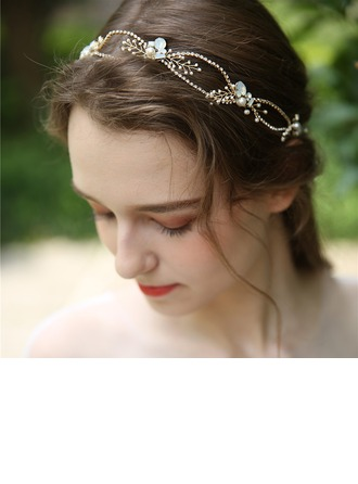 Ladies Beautiful Alloy/Beads Headbands (Sold in single piece)