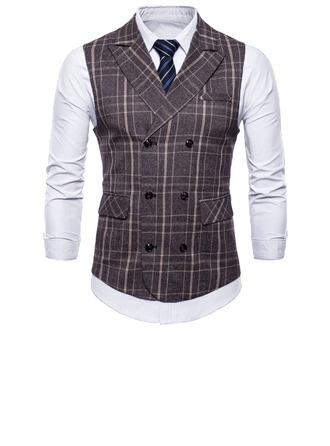 Stripe Wool Cotton Men's Vest