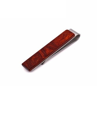 Vintage Wood Copper Tie Clip