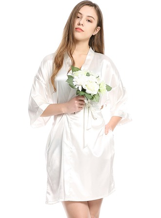Charmeuse Bride Bridesmaid Blank Robes