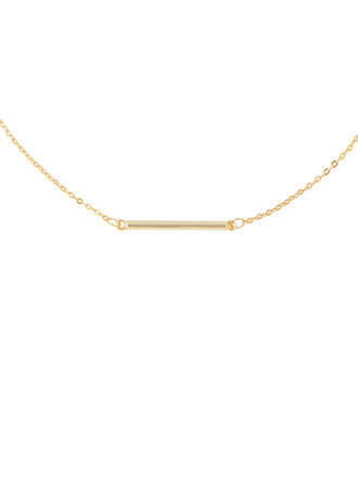 18k Gold Plated Silver Bar Necklace - Christmas Gifts