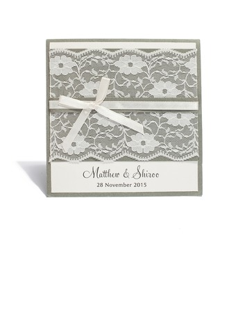 Personalizzato Stile Moderno Fold Top Invitation Cards (Set di 20)