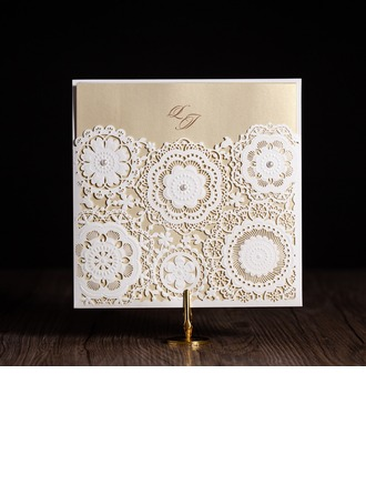 Artistic Style Wrap & Pocket Invitation Cards (Satz Von 50)