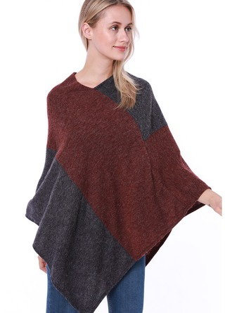Couture Énorme/mode/simple Laine artificielle Poncho