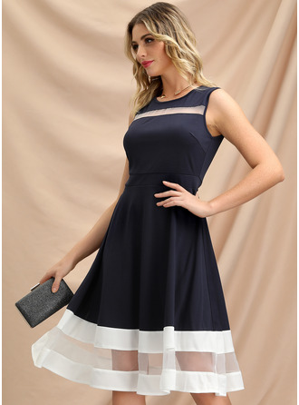 Striped A-line Sleeveless Midi Vintage Casual Elegant Skater Dresses