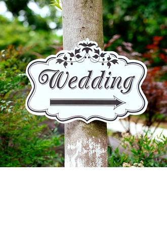 Attractive Simples/Clássico De madeira wedding Registe-