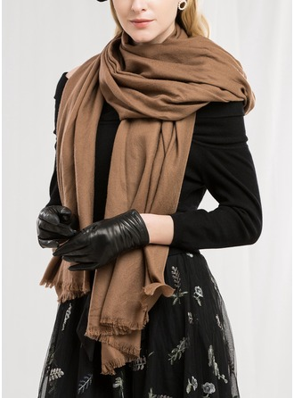 Solid Color Neck/fashion/simple/Cold weather Wool Scarf