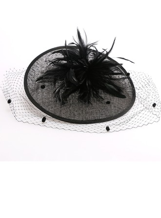 Ladies' Beautiful/Glamourous/Elegant/Eye-catching Cambric With Feather Fascinators