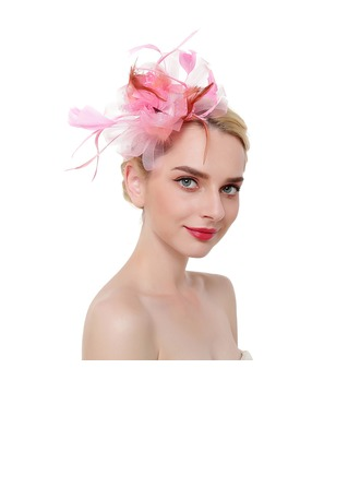 Ladies ' Classic/Enkle Netto garn med Fjer Fascinators