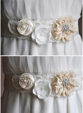 Gorgeous Satin Sash With Flower