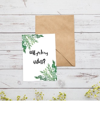 Bridesmaid Gifts - Classic Special Card Paper Wedding Day Card (Set of 2)
