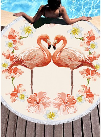 Animal round Beach towel