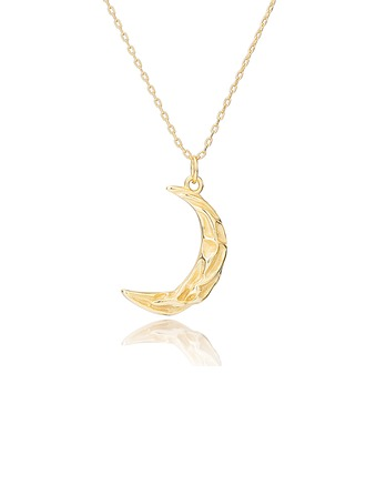 18k Gold Plated Silver Moon Pendant Necklace