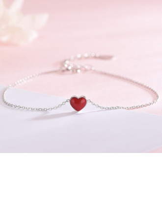 Anti-oxidation Statement Charm Bracelets With Heart -