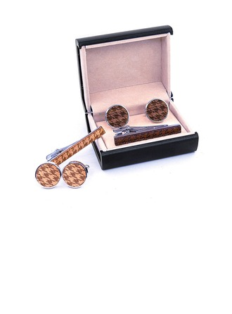 Vintage Wood Copper Tie Sets