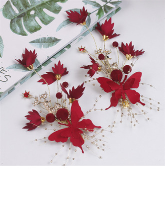 Special Alloy/Satin Hairpins (Set of 2)