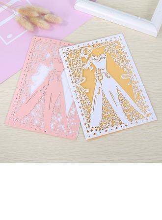 Fairytale Style/Butterly Style Fold Side Invitation Cards (Zestaw 50)