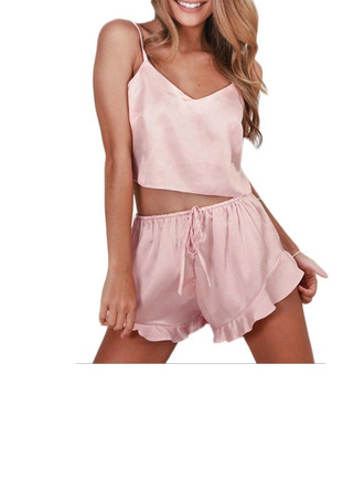 Classic Imitated Silk Cami Sets Sleepwear/Slips