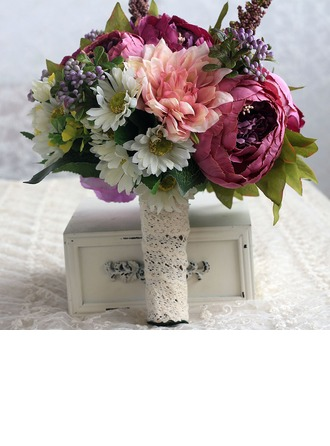Sweet Hand-tied Cloth/Ribbon Bridal Bouquets