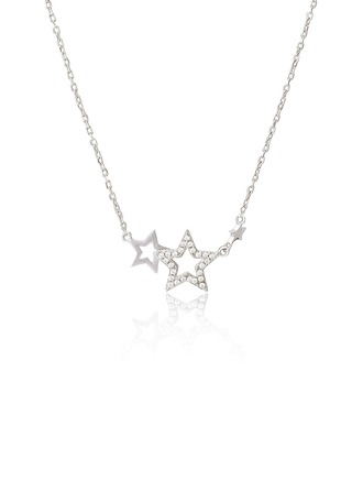 Sterling Silver Star Pendant Necklace